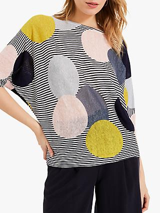 Phase Eight Piper Print Linen Top, Multi
