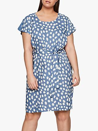 I.Scenery Curve Zally Spot Print Dress, Blue