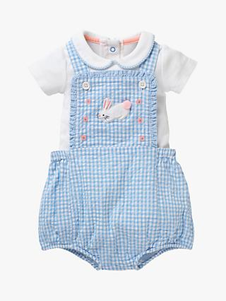 9cb361eb603e Mini Boden Baby Gingham Rabbit Romper Set