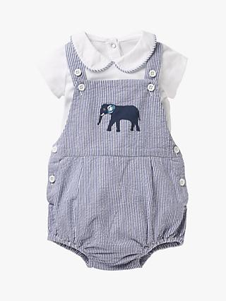 d07ae60cdb8fa Mini Boden Baby Ticking Stripe Elephant Dungaree Set