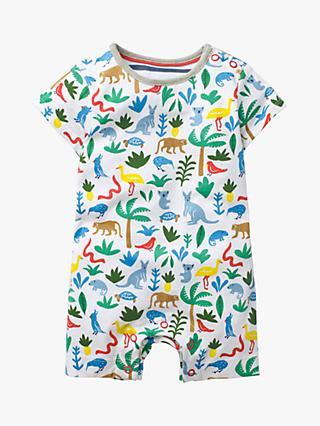 d270d27312f1 Mini Boden Baby Animal Jersey Romper