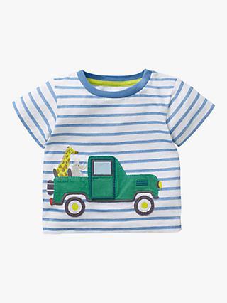 2b0d742ca Mini Boden Baby Animal Adventure Appliqué Stripe T-Shirt, Blue