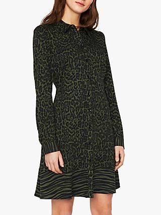 Warehouse Mixed Animal Shirt Dress 1faac066a