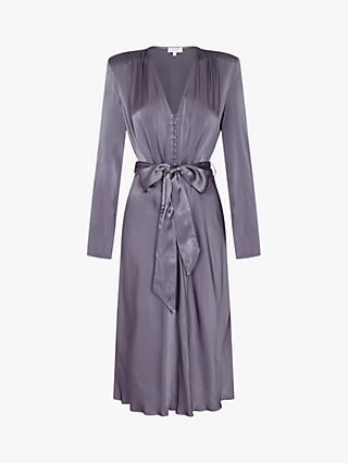 Ghost Meryl Wrap Tie V-Neck Dress