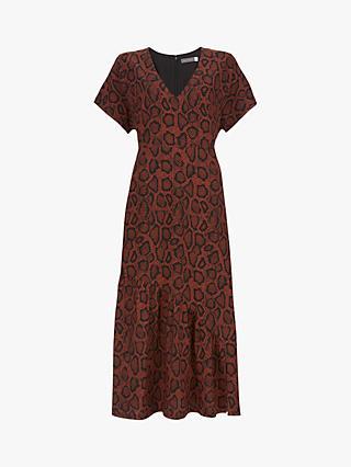 4e9076534195 Mint Velvet Molly Animal Print Midi Dress