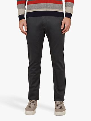 Ted Baker Willsm Straight Leg Jeans, Mid Grey