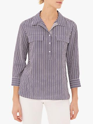 Gerard Darel Elem Stripe Blouse, Blue