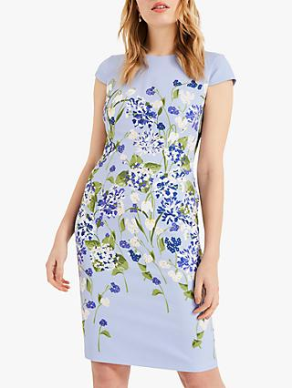 Phase Eight Corrina Floral Dress, Dusty Blue