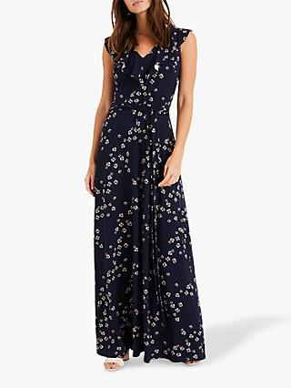 Phase Eight Destiny Maxi Dress, Navy/Multi