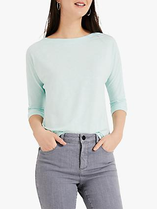 Phase Eight Belle Cotton Boat Neck Top