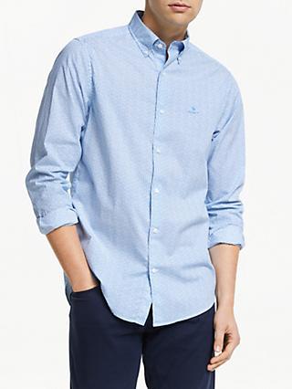 67c2ecc03f2 GANT Ditzy Husk Micro Print Shirt, Blue