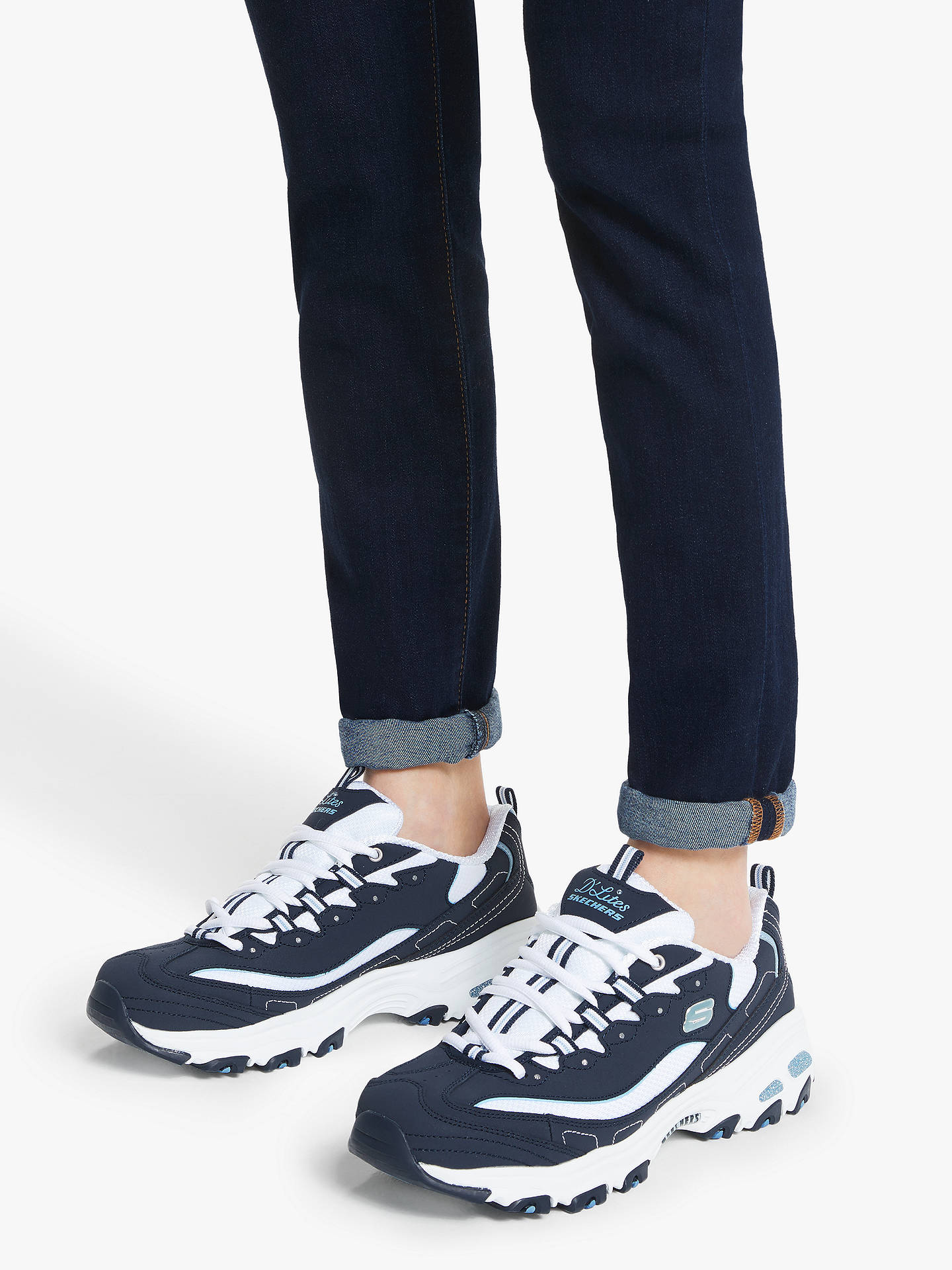 Skechers D'Lites Trainers, Navy at John Lewis & Partners