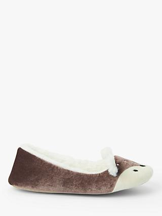 John Lewis & Partners Deer Ballerina Slippers, Brown