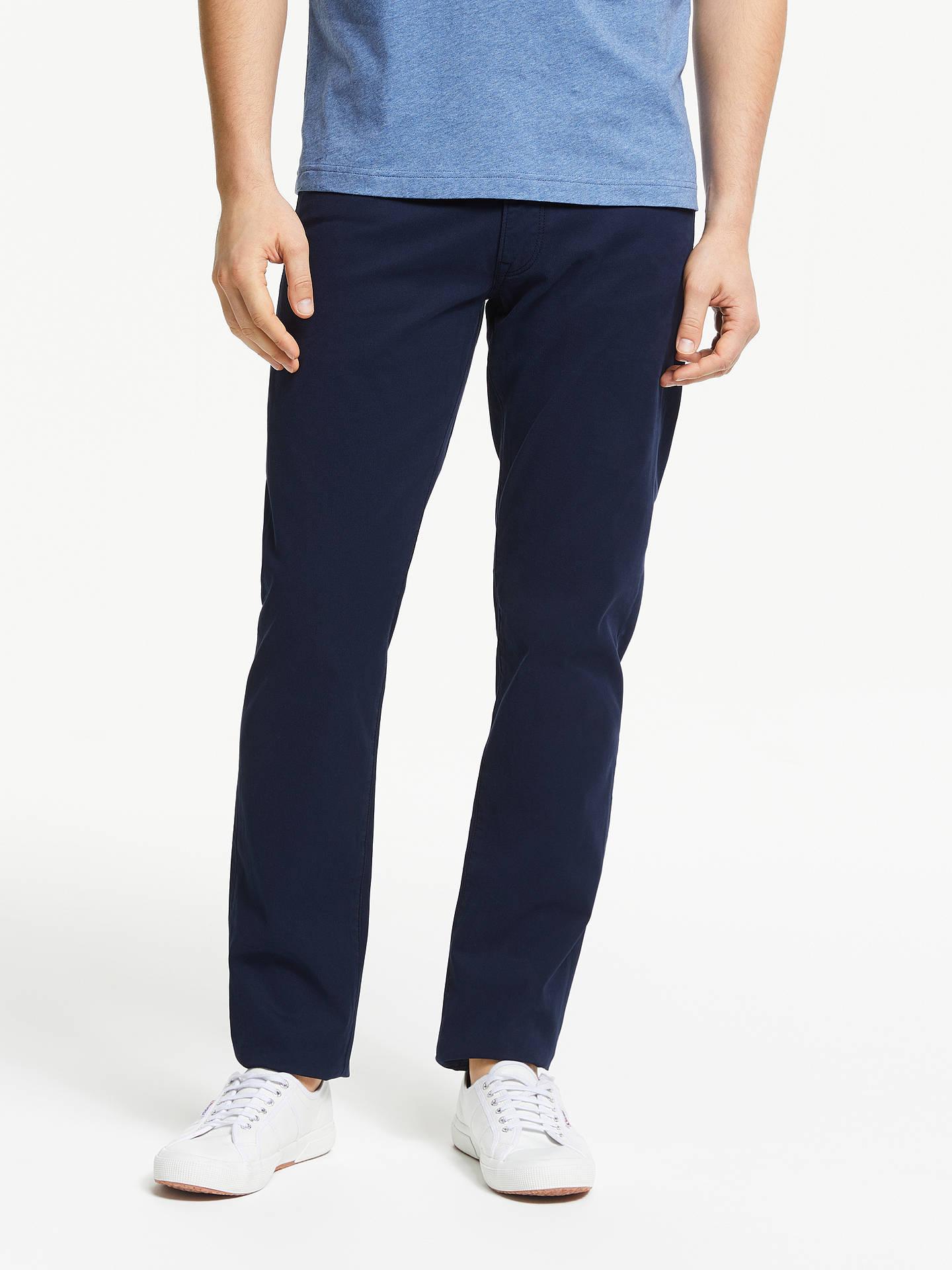 446357a02485 Buy GANT Bedford Slim Fit 5 Pocket Jeans, Navy, 34S Online at johnlewis.