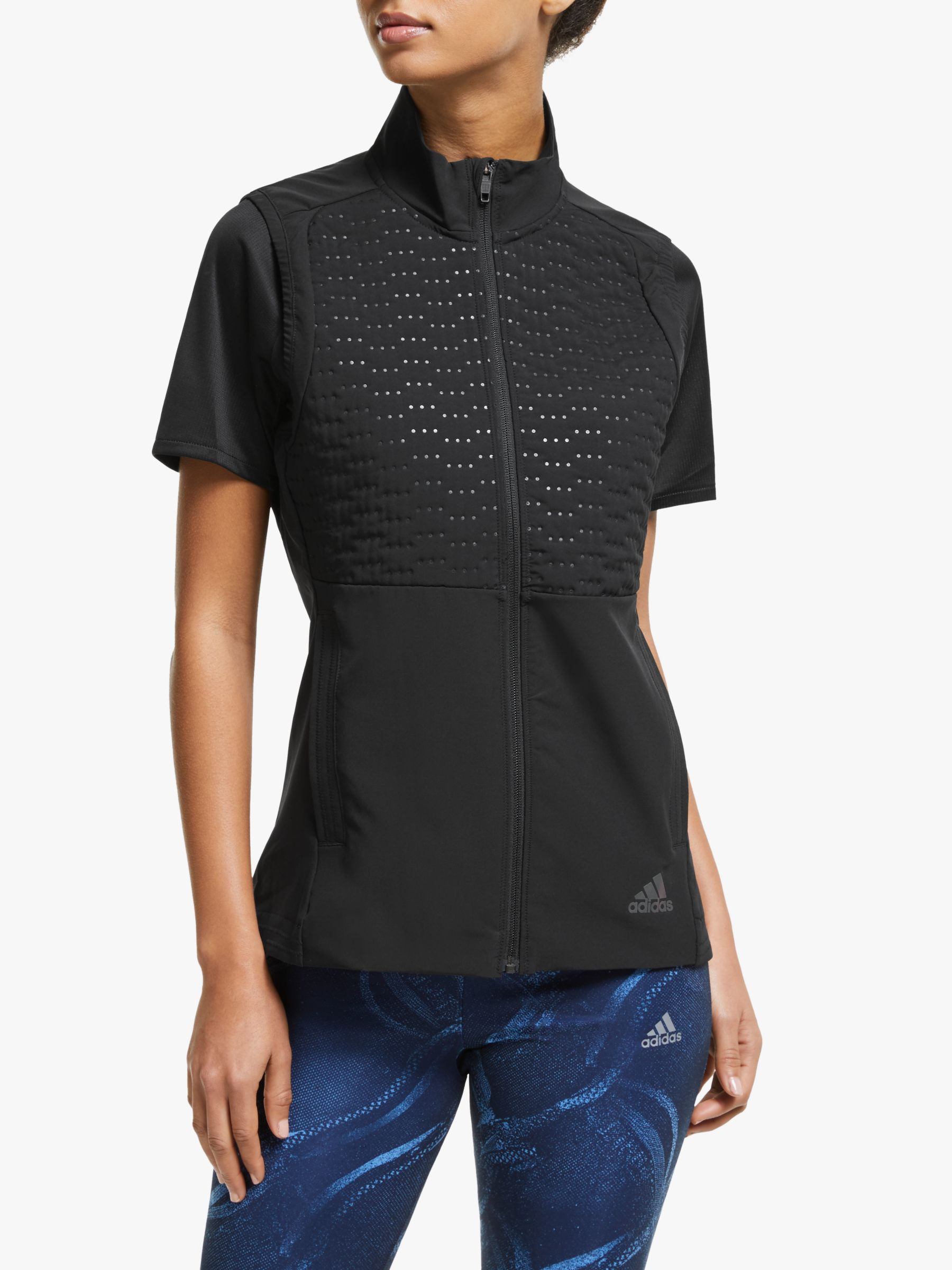 Adidas adidas Rise Up N Run Guard Running Gilet, Black