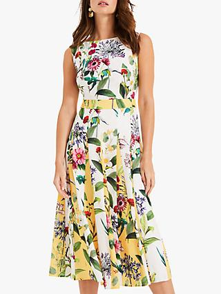 Phase Eight Trudy Floral Dress, Ivory/Multi