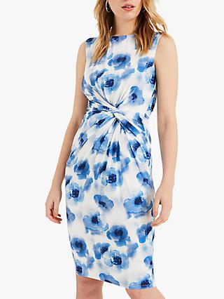 Phase Eight Mary Floral Knot Detail Tailored Dress, Multi
