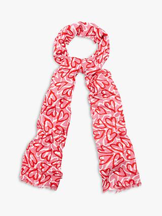 Phase Eight Rosabelle Heart Print Scarf, Multi