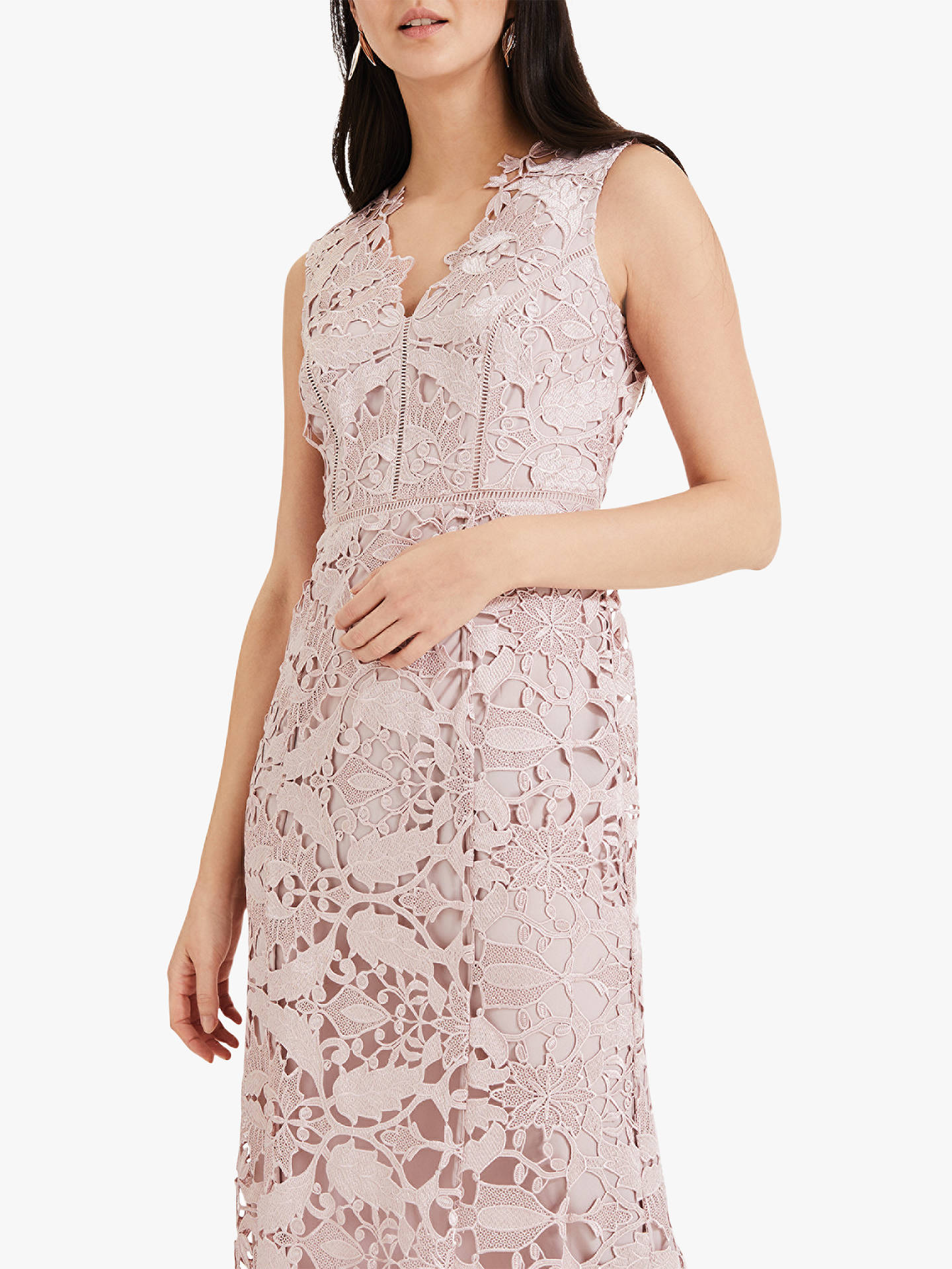 Buy Phase Eight Collection 8 Zoey Lace Maxi Dress, Petal, 12 Online at johnlewis.com