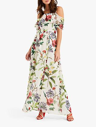 Phase Eight Nell Maxi Dress, Pearl/Multi