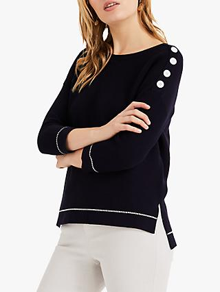 Phase Eight Nicci Nautical Jumper, Navy
