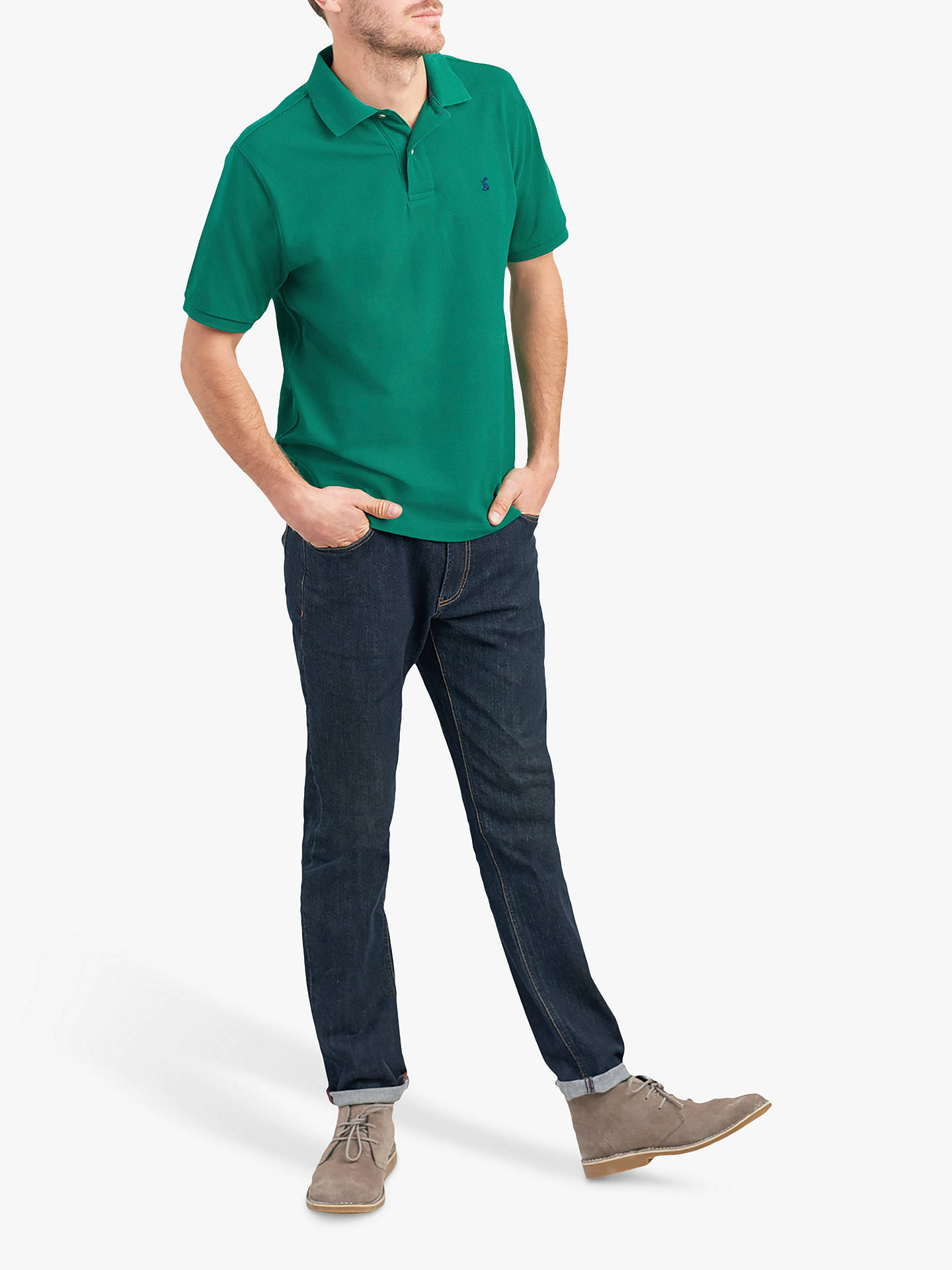 b23fa8705f8e5 Buy Joules Woody Classic Polo Shirt, Green, S Online at johnlewis.com ...