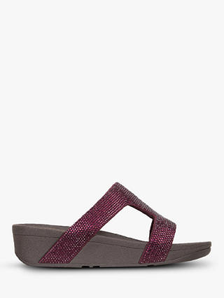 Buy FitFlop Marli Sequin Embellished Sandals, Aubergine, 3 Online at johnlewis.com