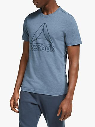 Reebok Training Essentials Marble Melange Top, Washed Indigo
