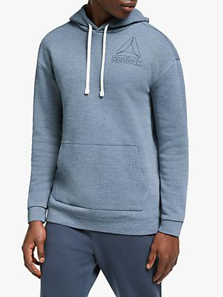Reebok Marble Melange Training Hoodie, Washed Indigo