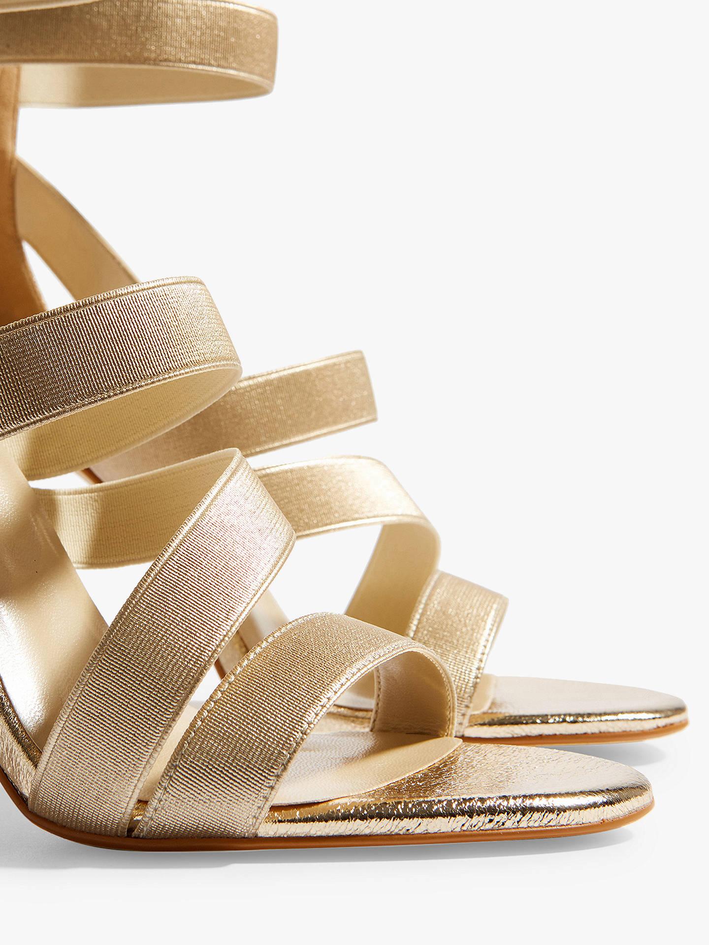 328de1767e ... Buy Karen Millen Glitter Metallic Strap Sandals, Gold, 7 Online at  johnlewis.com