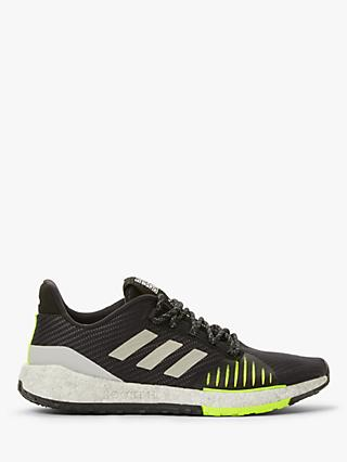 adidas PulseBOOST HD WNTR Men's Running Shoes, Core Black/Grey Two/Solar Yellow