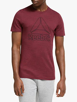 Reebok Training Essentials Marble Melange T-Shirt, Lux Maroon