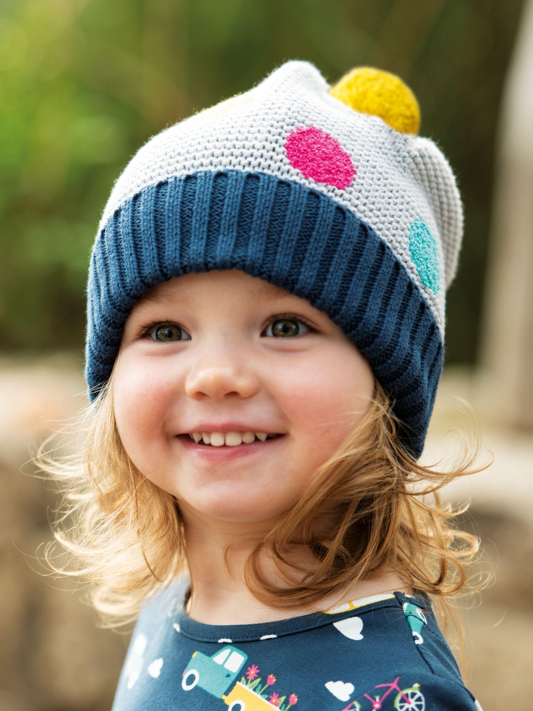 Frugi Baby Gots Organic Cotton Evie Bobble Hat Multi At John Lewis Partners