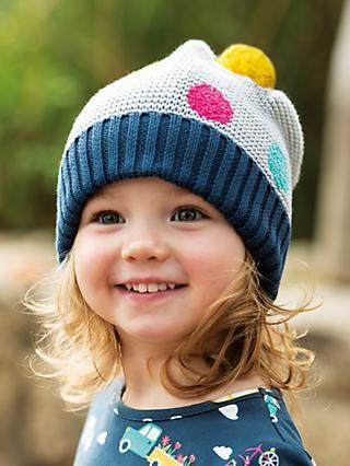 cf8b4546f Frugi Baby GOTS Organic Cotton Evie Bobble Hat, Multi