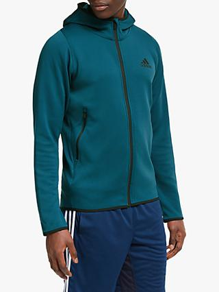 adidas FreeLift Climawarm Knit Training Hoodie, Tech Mineral