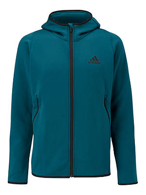 Buy adidas FreeLift Climawarm Knit Training Hoodie, Tech Mineral, S Online at johnlewis.com