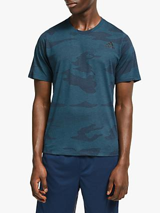 adidas FreeLift Camo Burnout Training Top, Tech Mineral