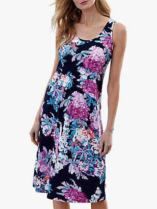 Joules Gabriella Sleeveless Floral Dress, Navy/Multi