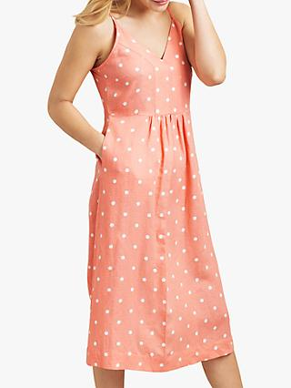Joules Zoey Spot Dress, Orange Spot