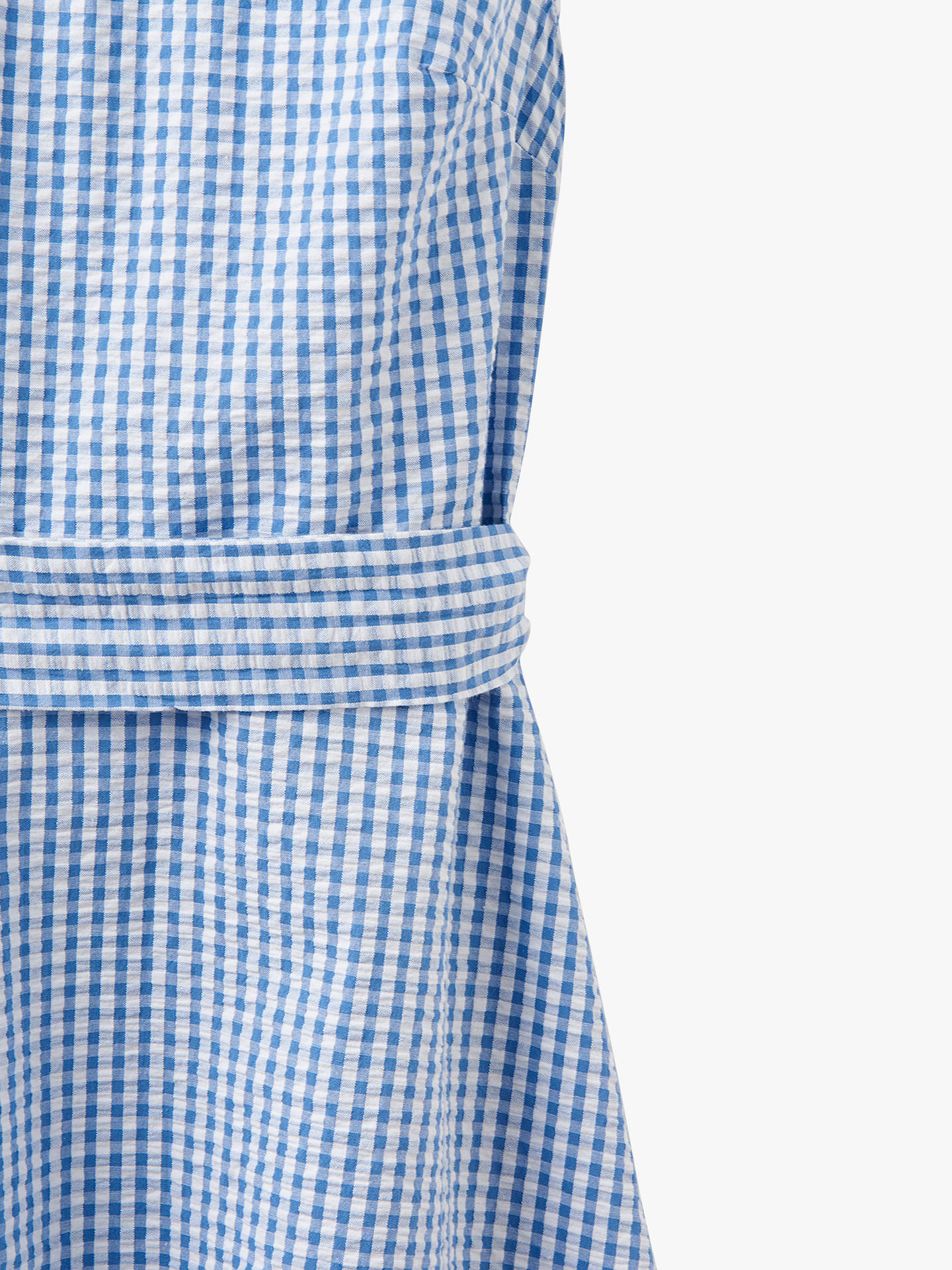 f552cc7bc ... Buy Joules Fiona Tie Belt Gingham Cotton Dress, Blue/White, 8 Online at  ...