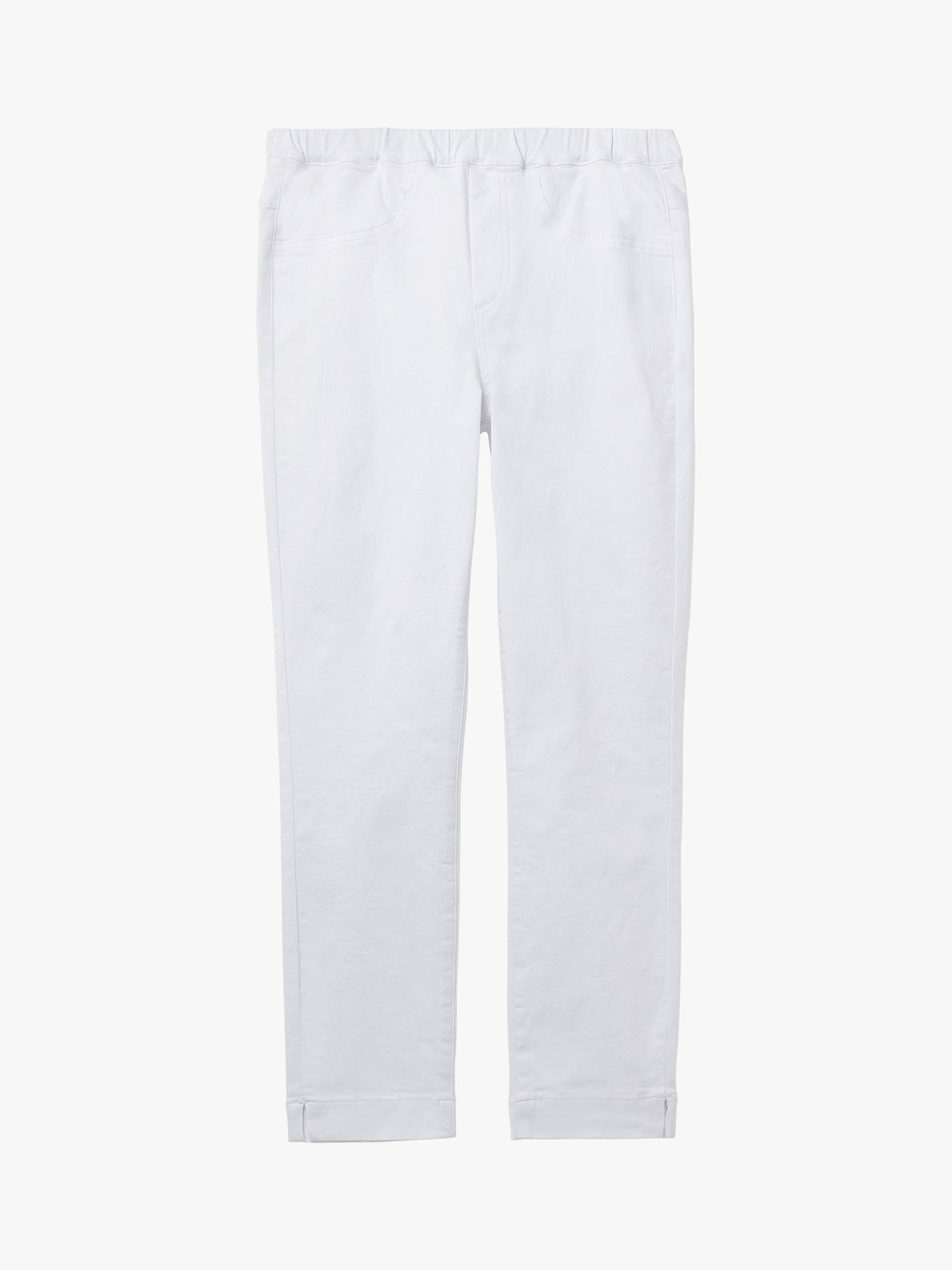 Buy White Stuff Jade Cropped Jeggings, White, 14R Online at johnlewis.com