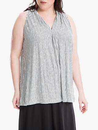 Max Studio + Sleeveless Stripe Jersey Top