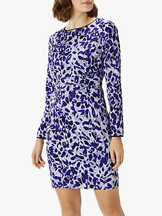 Coast Giana Leopard Print Dress, Blue