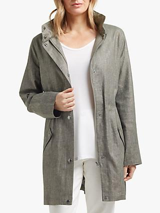 2541c9ccb2620 Four Seasons Linen Blend Hooded Parka