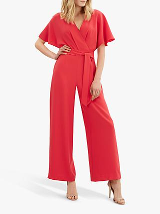 Jaeger Angel Tie Waist Jumpsuit, Red
