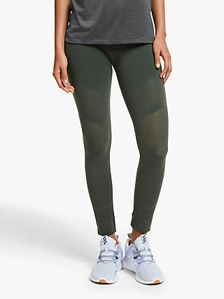 adidas Warp Knit 7/8 Training Tights, Legend Earth