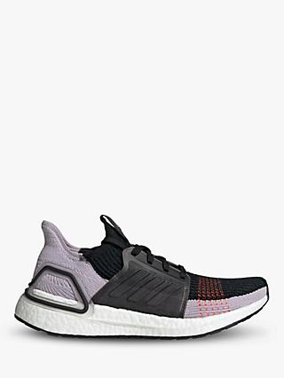 adidas UltraBOOST 19 Women's Running Shoes, Core Black/Soft Vision/Solar Red