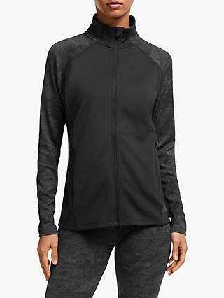 adidas Climalite Full-Zip Jacquard Women's Training Jacket, Black