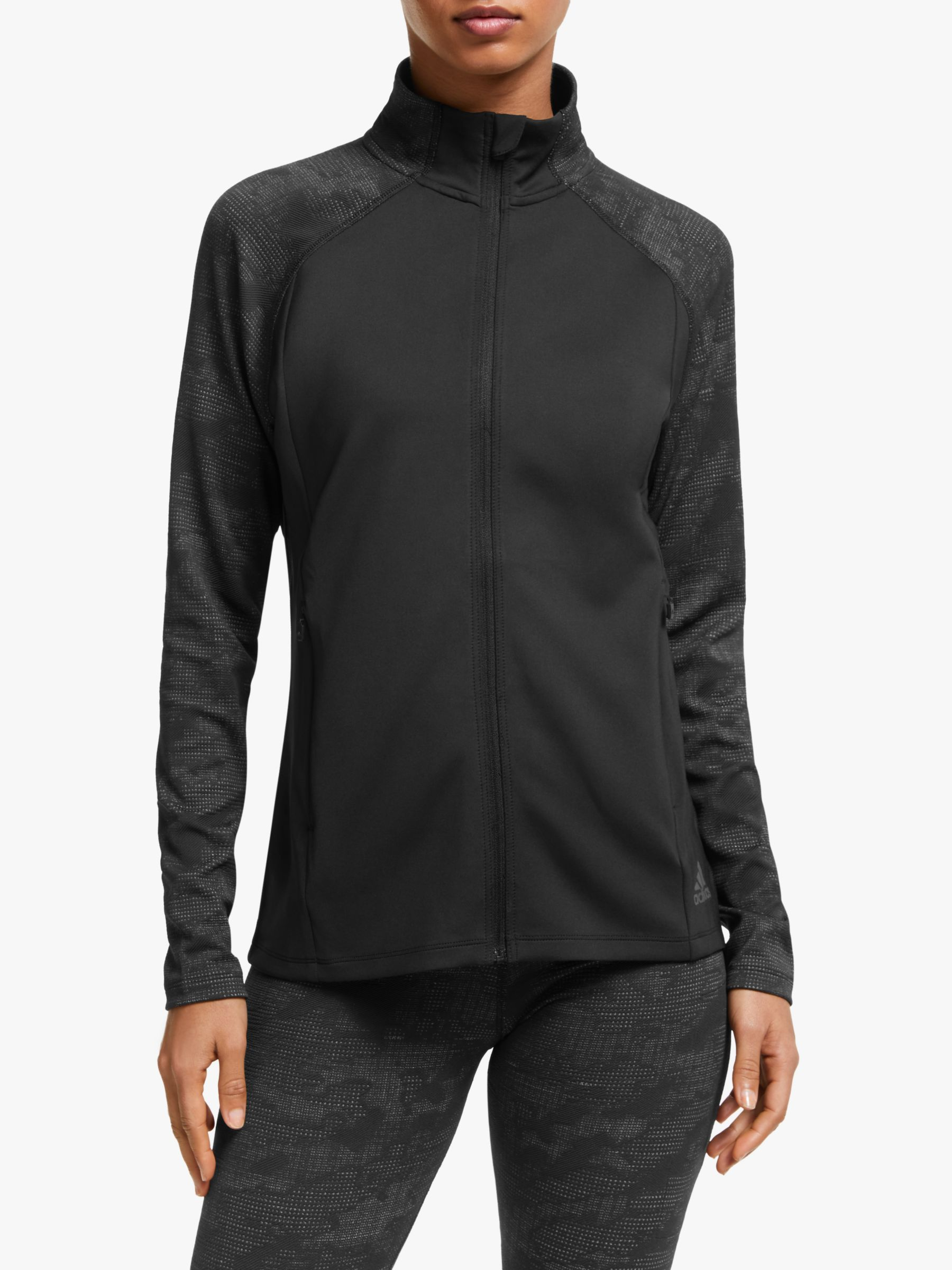 Adidas adidas Climalite Full-Zip Jacquard Women's Training Jacket, Black