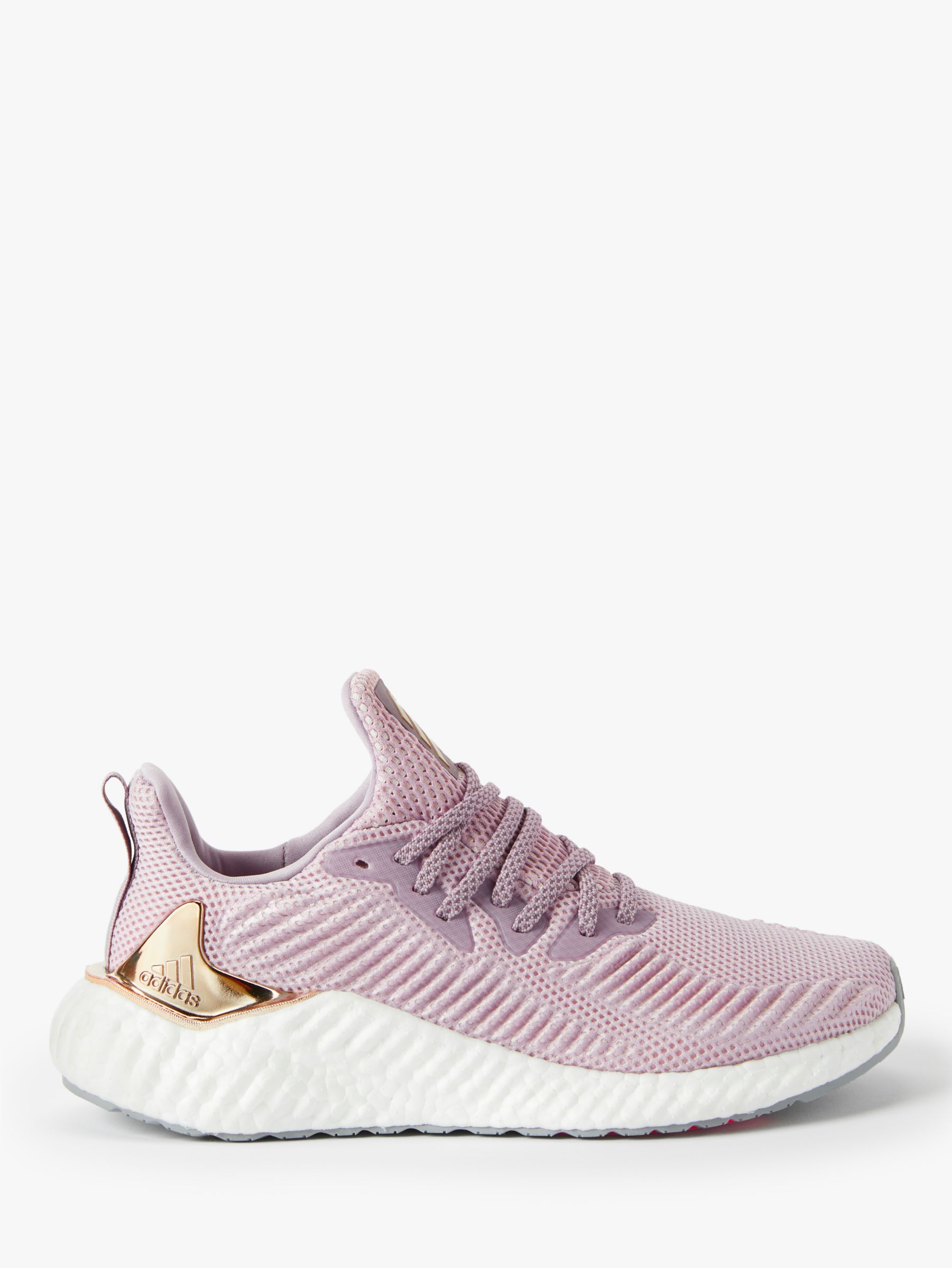 Buy adidas Alphaboost Women's Running Shoes, Soft Vision/Copper Met./Orchid Tint, 4 Online at johnlewis.com